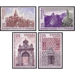 4 عدد تمبر میراث جهانی یونسکو - اسپانیا 1991