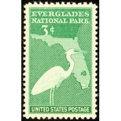 1 عدد تمبر پارک ملی اورگلادس  - آمریکا 1947