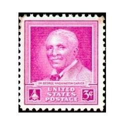 1 عدد تمبر یادبود دکتر جرج واشنگتون کارور - گیاهشناس و مخترع  - آمریکا 1948