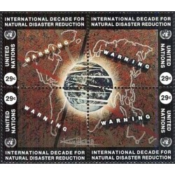 4 عدد تمبر دهه کاهش بلایای طبیعی - نیویورک سازمان ملل 1994 قیمت 4.7 دلار