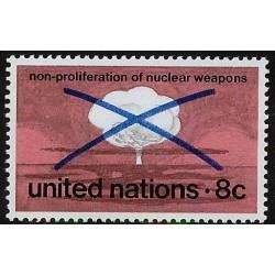 1 عدد تمبر منع گسترش سلاحهای هسته ای - نیویورک سازمان ملل 1972