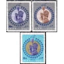 1389 - بلوک تمبر تاجگذاری محمد رضا پهلوی 1346