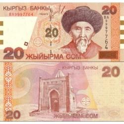 اسکناس 20 سام - قرقیزستان 2002