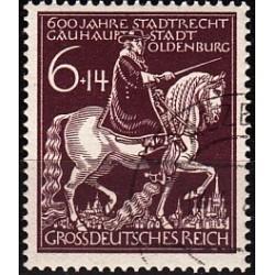 1 عدد تمبر 600 سالگی شهر اولدنبرگ  - رایش آلمان 1945 مهر خورده