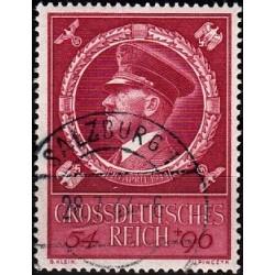 1 عدد تمبر پنجاه و پنجمین سالگرد تولد آدولف هیتلر - رایش آلمان 1944 مهر خورده