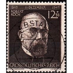 1 عدد تمبر روبرت کخ - رایش آلمان 1944 مهر خورده