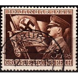 1 عدد تمبر یازدهمین سال حکومتش هیتلر - رایش آلمان 1944 مهر خورده