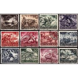 12 عدد تمبر روز یادبود قهرمانان - رایش آلمان 1943 مهرخورده قیمت 19.4 دلار