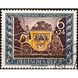 1 عدد تمبر روز تمبر  - رایش آلمان 1943 مهرخورده