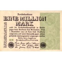 اسکناس 1.000.000 مارک -رایش آلمان 1923 کیفیت 98%