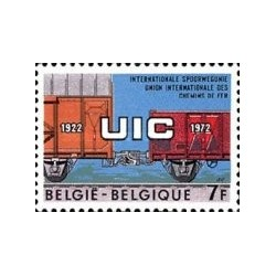 1 عدد تمبر 50مین سال الحاق آیزنبر - بلژیک 1972