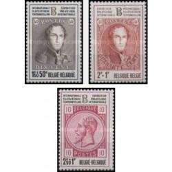 3 عدد تمبر نمایشگاه تمبر بلژیکا 72 - بلژیک 1972