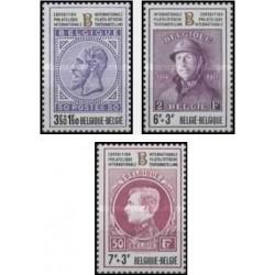 3 عدد تمبر نمایشگاه تمبر بلژیکا 72 - 2 - بلژیک 1972