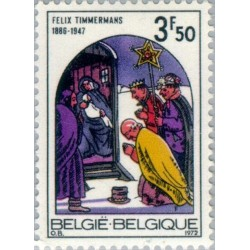 1 عدد تمبر کریستمس - بلژیک 1972