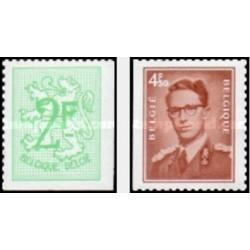 2 عدد تمبر سری پستی - دندانه در 2 یا 3 لبه - بلژیک 1972