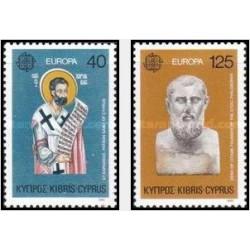 2 عدد تمبر مشترک اروپا - Europa Cept - -قبرس 1980