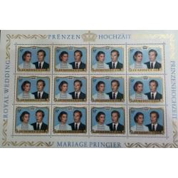 مینی شیت تمبر ازدواج سلطنتی پرنس هنری و ماریا ترزا - لوگزامبورگ 1981