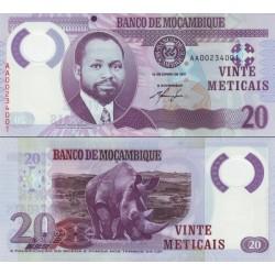 اسکناس پلیمر  20 متیکا - موزامبیک 2011