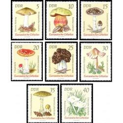 8 عدد تمبر قارچهای سمی - جمهوری دموکراتیک آلمان 1974