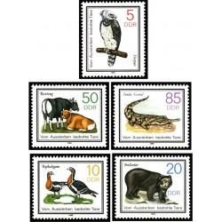 5 عدد تمبر حیوانات حفاظت شده - جمهوری دموکراتیک آلمان 1985