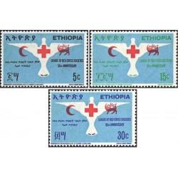 3 عدد تمبر صلیب سرخ - شیر و خورشید - اتیوپی 1969