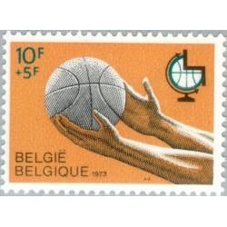 1 عدد تمبر ورزشی خیریه - بلژیک 1973
