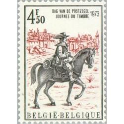 1 عدد تمبر روز تمبر - بلژیک 1973