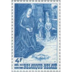 1 عدد تمبر کریستمس - بلژیک 1973