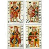 4 عدد تمبر خیریه - بلژیک 1973