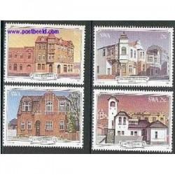 4 عدد تمبر ساختمانهای تاریخی آفریقای جنوب غربی 1981