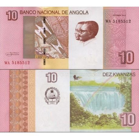 اسکناس 10 کوانزا - آنگولا 2012 اثر ناخنی دارد