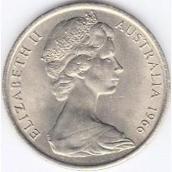 سکه 20 سنت نیکل مس - استرالیا 1966 غیر بانکی