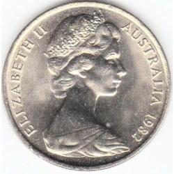 سکه 20 سنت نیکل مس - استرالیا 1982 غیر بانکی