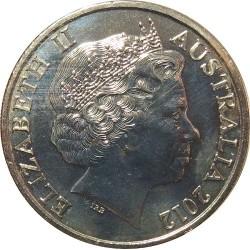 سکه 20 سنت نیکل مس - استرالیا 2012 غیر بانکی