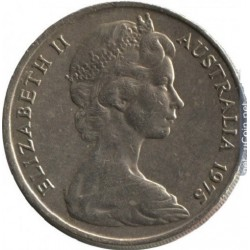 سکه 20 سنت نیکل مس - استرالیا 1975 غیر بانکی