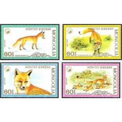 4 عدد تمبر روباه سرخ - مغولستان 1987 قیمت 3.5 دلار
