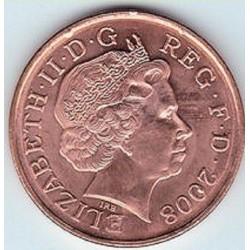 سکه 2 پنس مس روکش استیل - انگلیس 2008 غیر بانکی