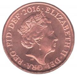 سکه 2 پنس مس روکش استیل - انگلیس 2016 غیر بانکی