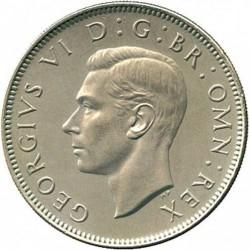 سکه 2 شیلینگ - نیکل مس - انگلیس 1951 غیر بانکی
