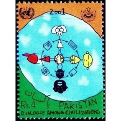 1 عدد تمبر سال بین المللی گفتگوی تمدنها -  پاکستان 2001