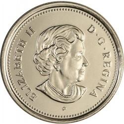 سکه 5 سنت - نیکل - کانادا 2005 غیر بانکی