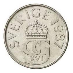 سکه 5 کرون - نیکل مس - سوئد 1987 غیر بانکی