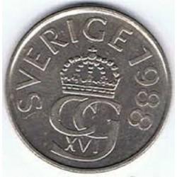 سکه 5 کرون - نیکل مس - سوئد 1988 غیر بانکی
