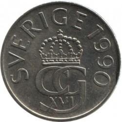 سکه 5 کرون - نیکل مس - سوئد 1990 غیر بانکی