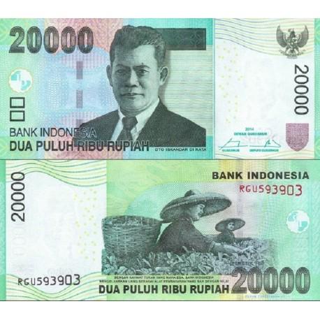 اسکناس 20000 روپیه - اندونزی 2014
