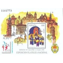 سونیرشیت نمایشگاه تمبر اگزفیلنا - آلکانیز-  اسپانیا 1993