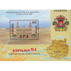 سونیرشیت نمایشگاه ملی تمبر اگزفیلنا - اسپانیا 1994