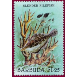 1 عدد تمبر  سری پستی - حیات اقیانوس  - باربودا 1987
