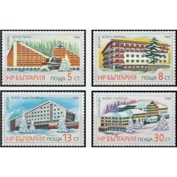 4 عدد تمبر توریسم  - بلغارستان 1988