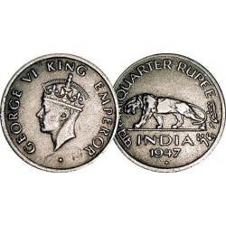 سکه  1/4 روپیه - نیکل- هندوستان 1947 غیر بانکی